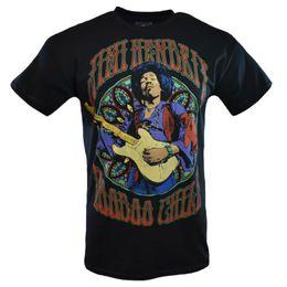 rock-gitarren-t-shirts Rabatt JIMI HENDRIX Mann-T-Stück T-Shirt VOODOO Rockmusik-Weinlese s Ärmel-Gitarren-Schwarzes NEUES lustiges freies Verschiffen Unisex-beiläufige T-Shirt Spitze