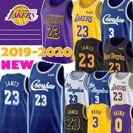 camisetas de baloncesto xxxl Rebajas LeBron James Jersey 23 NCAA Anthony Davis Kyle 3 0 Kuzma Kobe Bryant 24 2019 2020 Nueva universitario masculino Baloncesto jerseys