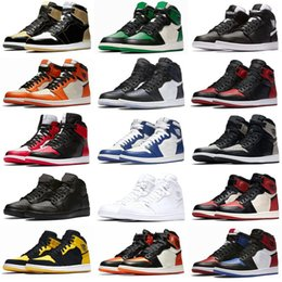 2019 burgundy lacklederstiefel Neue 1 I High OG Bred Toe Chicago verboten Spiel Royal Boots Schuhe Herren 1s Top 3 Shattered Backboard Shadow Multicolor