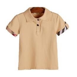 Style de chemise matérielle en Ligne-mode 2019 enfants garçon tshirt été sofe matériel marque designer enfants garçon polo t-shirt turndown colloar top