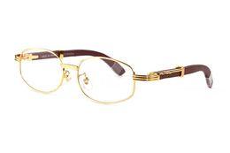 mens di bambù Sconti occhiali da sole in legno di bambù per uomo 2019 occhiali da sole rotondi di design da uomo senza montatura occhiali da vista in corno di bufalo marrone chiaro lenti da vista