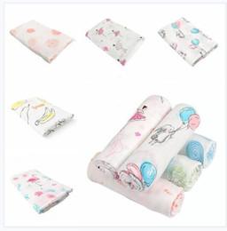 2019 mantas de enfermera Manta para bebés Flamingo Swaddle para recién nacidos Algodón Bambú Súper Suave Muselina Pañal Niños Ropa de cama Foto Enfermería Cubierta para niños mantas de enfermera baratos