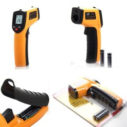 Uso doméstico industrial GM320 Pantalla LCD sin contacto con láser Pantalla de infrarrojos IR digital C / F Termómetro de temperatura de superficie desde fabricantes