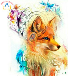 живопись речного животного Скидка HOME BEAUTY oil paint painting by numbers diy picture river drawing on canvas oil painting by hand coloring animals  R062