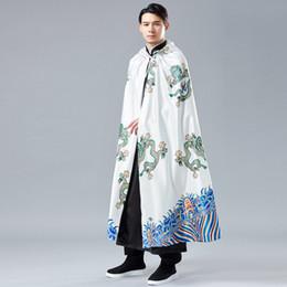 2019 chaquetas chinas tradicionales Estilo tradicional chino 2019 nueva cosecha túnicas chinas antiguas mantón mantón kung fu batas para hombre chaqueta de abrigo chaqueta rompevientos rebajas chaquetas chinas tradicionales