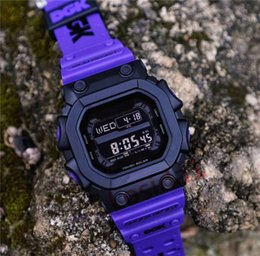 luxury digital sports watches men Coupons - Wholesale Mens Sports G Style Wristwatches LED Luxury AAA Quality Shock Style Digital Square New Arrival Outdoor Sports Watch Clock for Man