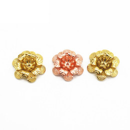 50 PCS 18 * 5mm 6 Couleurs Plaqué Filigrane Fleurs Paramètres Métal Cuivre Perles Caps Charmes Pour La Fabrication de Bijoux Composants DIY ? partir de fabricateur
