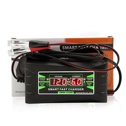 caricabatteria 12v 6a Sconti Completamente automatico intelligente 12V 6A piombo / GEL Car Battery Charger W / LCD Display della spina UE Smart Battery Quick Charger
