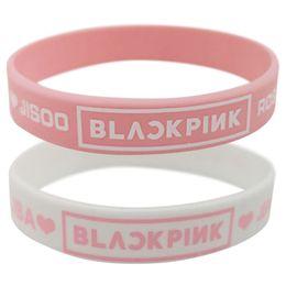 cuentas de cristal de rubí natural Rebajas Regalos de la joyería de KPOP BLACKPINK pulsera de silicona Blackpink pulsera de la amistad pulsera brazalete para las mujeres de los hombres