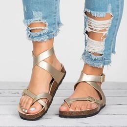 sandalias de talla grande Rebajas Factory Direct Sandals Women 2019 Summer Shoes Women Sandalias planas para playa Chaussures Femme Clog Plus Size 43 Casual Flip Flop