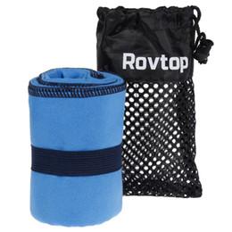 Asciugamani rapidi asciugamani viaggio online-Asciugamano in microfibra da 40x80 cm Asciugamano da viaggio in microfibra ad asciugatura rapida Piccolo per Yoga, Sport, Outdoor, Trekking blu