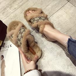 Deutschland Mode Luxus Designer Frauen Schuhe Hausschuhe Frauen Schuhe Frauen Hausschuhe Indoor Sandalen Mädchen Mode Abnutzungsspuren Hochwertige Pelzrutschen Versorgung