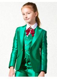 2019 Cheap Boys Tuxedo Beautiful Girls Cena Trajes Chicos Trajes Formales Tuxedo para Niños Tuxedo (Chaqueta + Pantalones + Corbata + Chaleco) A06 desde fabricantes