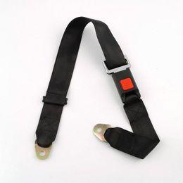 extensiones del cinturón de seguridad del coche Rebajas Universal Car Vehicle Cinturón de seguridad Extensión del cinturón de seguridad Correa de dos puntos Longitud del cinturón ajustable Negro EEA307