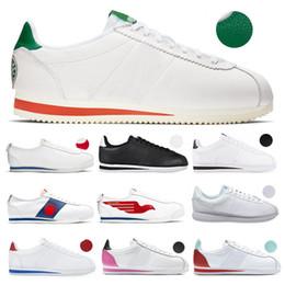 Le misure dei pattini del cane online-Cane di scarpe a buon mercato x Cortez 72 SD Stranger Things scarpe sportive uomo 72s S.D. Premium Pack Falcon Bianco Nero scarpe da tennis Taglia 40-45