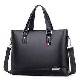 Business Messenger Bags Hombre Maletines Bolsos de mano Negro 14 pulgadas Laptop Bag Maletines de hombro para hombre Bolsos Bolsas de exterior desde fabricantes