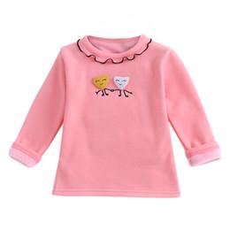Argentina 1T-5T Niños Bebés Sólidos Sólidos de dibujos animados Base Camisa de manga Loog O-cuello Blusa Ropa Sólido Blanco Rosa Amarillo Gris Tops supplier pink yellow baby clothing Suministro