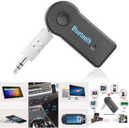 Evrensel 3.5mm Bluetooth Araç Kiti A2DP Kablosuz AUX Ses Müzik Alıcısı Adaptörü Telefon MP3 Perakende paketi Için Mic ile Handsfree DHL nereden tabletler çağrısı tedarikçiler