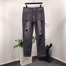 2019 ternos completos do basculador TS Logotipo de Luxo Completa Impressão Denim Jeans Jeans Moda de Rua Retro Dos Homens Degigner Womens Casais Preto Jogger Suit TSYSTZ003 ternos completos do basculador barato