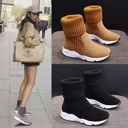 fliegende stiefel Rabatt Designer Boots Frauen Girl Classic Fly Knitting Schnee-Aufladungen Bowtie Knöchel Kurzbogen-Pelz-Winter Stiefel Chestnut Mode 670261