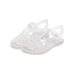 Желе обувь онлайн-Jelly Round Head Beach Shoes Comfortable RFID Blocking Buckle Fastening Flattie Sandal