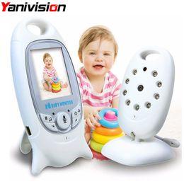 2019 video babysitter Wireless Baby Monitor 2 pollici BeBe Baba Babysitter elettronico Radio Video Nanny Camera Monitoraggio della temperatura Visione notturna VB601 video babysitter economici