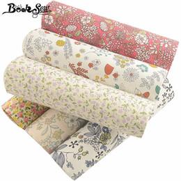 Teintures textiles en Ligne-Booksew 100% coton imprimé tissu floral tissu de teinture mètre Textiles 6 PCS / lot 40cmx50cm Twill Tecido DIY Patchwork Couture Tela