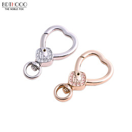 keychain swivel Coupons - 10 pcs lot New DIY Jewelry Ornament Hook Buckle for Keychain Part Metal Buckle for Bag Chain Swivel Clasp Accessories