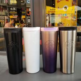 тигровая керамика Скидка Новая мода Starbucks чашка лаванды порошок фиолетовый градиент богиня чашка из нержавеющей стали кофе сопровождающие пара чашка W959555