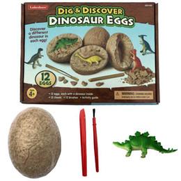 2019 coleção de brinquedos de dinossauros brinquedos coleção de brinquedos esqueleto do dinossauro do parque temático DIY brinquedo mineração Dinosaur simulação ovo simulação brinquedo arqueológica dinossauro fósseis coleção de brinquedos de dinossauros barato