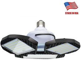 45W 60W 80W E27 Lâmpada LED SMD2835 Super brilhante LED Dobrável Lâmina de ventilador Ângulo ajustável Lâmpada de teto Lâmpada de poupança de energia em casa - EUA Stock de