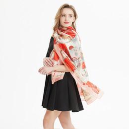 Argentina 2019 verano nuevo estilo colorido de moda multifuncional bufanda de seda mujer bromista protector solar camail delgada bufanda roja clásica Suministro