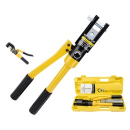 force kit Promo Codes - YQK-70 8T 12T Hydraulic Crimper Tool Kit Tube Terminals Lugs Battery Wire Crimping Force Hydraulic Pliers