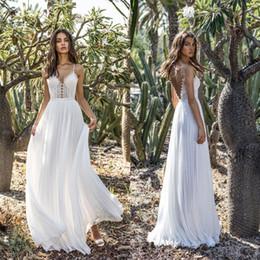 fb41996f4bcd0 2019 italienische kleider Günstige Strand Sommer Bohemian Wedding Dress  Backless Sexy italienischen Schultergurt, günstige bodenlangen