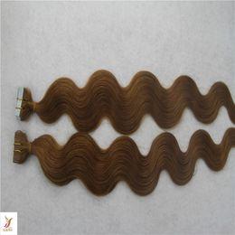 Açık Kahverengi Renk Brezilyalı Cilt Atkı Bandı Saç Uzantıları 10-30 Inç Vücut Dalga Saç Dokuma% 100% İnsan Saç Dokuma nereden