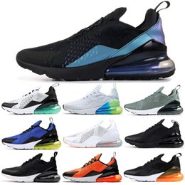 Nike Air Max 270 Shoes Scarpe da corsa Total Orange Be True Warriors Habanero Red Throwback Future TFY Vibes Donna Mens Trainer Sport Sneakers 36-45 da