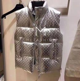 2019 мужские куртки с воротником Осень и зима конструирует новый мужские и женские куртки Жилет Web Celebrity же стиль хлеба костюм Сыпучей Stand Collar Печатного Письмо Waistc дешево мужские куртки с воротником