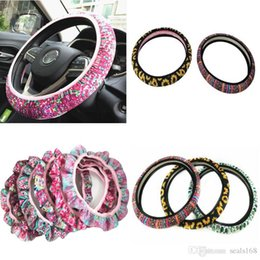 car steering wholesale Promo Codes - Cute and Fashionable Sunflower Steering Wheel Cover Universal Car Steering Wheel Cover Leopard, Cactus, Neoprene Car Accessories