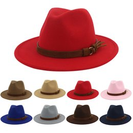 tapa ajustable hebilla Rebajas Tapas para ancho del borde de las mujeres sombrero de la vendimia con la hebilla del cinturón ajustable Outbacks Sombreros Sombrero de sol masculinas de la gorra sombreros del fascinator Fascinator # D8