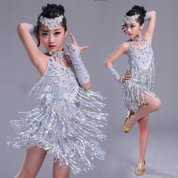 mädchen latin röcke Rabatt Latin Dance Kleid Fransen Kleid Kinder Rock Kleider Für Mädchen Latin Training Tango Performance Bühnenkleidung Kleider BL1170