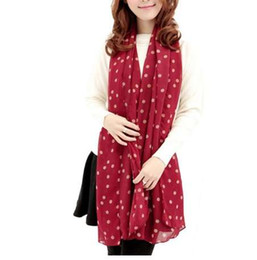 Sciarpe a scialle in chiffon di seta soffice a maniche lunghe in chiffon con stampa a pois da trasporto di goccia della mela fornitori