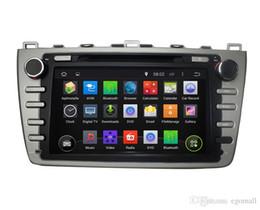 Android car dvd mazda online-Pantalla táctil capacitiva 100% Android 4.4 8 pulgadas DVD de coche para Mazda 6 2008-2012 Soporte DVR OBD incorporado en WiFi 3G con Canbus