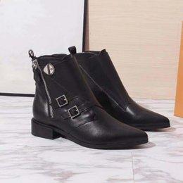 насосы плоские женские Скидка Новейшие женские кожаные ботинки 2019 года, классические повседневные туфли Lady Jumble Boot в туфлях на высоком каблуке Clafskin с размером коробки 35-42.