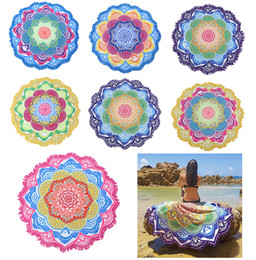 Argentina Manta de toalla de playa redonda - Tapiz de mandala Hippie Indian Picnic Cover de mesa Mantel extendido Círculo Estera de yoga Mandala india Toalla de playa Ta Suministro