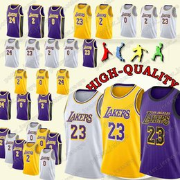 d052b90d4 Cheap sales Los Angeles 23 LeBron James Jerseys Lakers 24 Kobe Bryant 0  Kyle Kuzma 2 Lonzo Bal Jersey 2019 new
