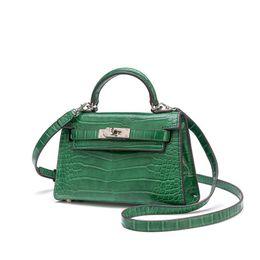 Новые пароли онлайн-2019 New Fashion Luxury Alligator Women's Handbags Designer  Messenger Bags Genuine Leather Small Shoulder Bags Sac A Main