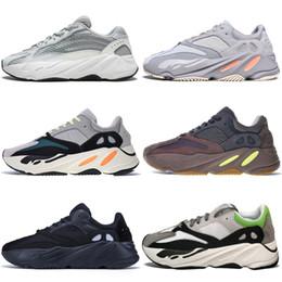 Canada Nouveau Kanye West 700 V2 Statique 3M Mauve Inertia 700s Wave Runner Hommes Chaussures de course pour hommes Femmes Gris solide baskets de sport designer Offre