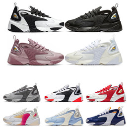 2020 zapatillas deportivas de estilo de vida Nike M2K Zoom  Hombres mujeres Zapatos para correr Triple Negro Crema Blanco Rainbow 2000 lifestyle Zapatillas de deporte para hombre Zapatillas deportivas tamaño 36-45 rebajas zapatillas deportivas de estilo de vida