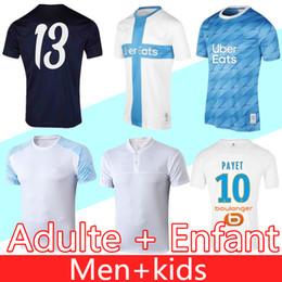 2020 camisetas de futbol maillot De alta calidad camiseta de fútbol Olympique de Marseille 2019 OM Marsella maillot de pie PAYET ANGUISSA GOMIS jerseys 19 20 camisas Marsella camisetas de futbol maillot baratos