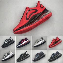 Ciotola d'aria online-Nike air max 720 Kids Boy and Girl Blu Rosso Nero Grigio Scarpe sportive Alta qualità Baby Bambini Fashion Designer uomo donna Sneakers Bowling Shoes